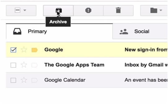 archiving in gmail image
