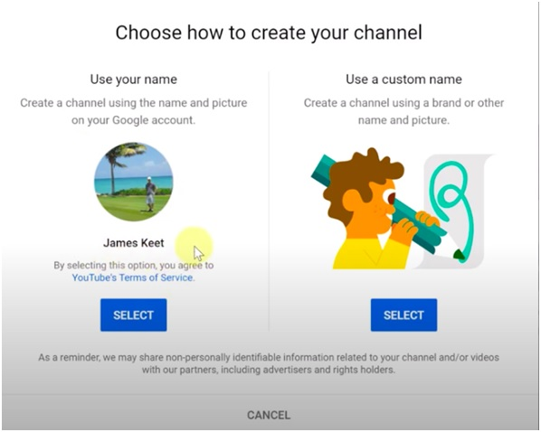 creating your channel image