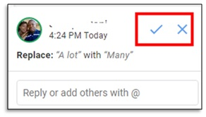 accept or reject changes in google docs