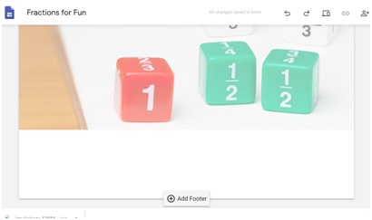 adding footer in google sites