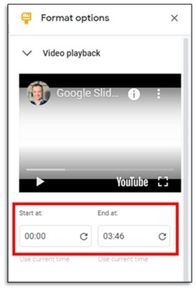 editing an embedded video in google drive