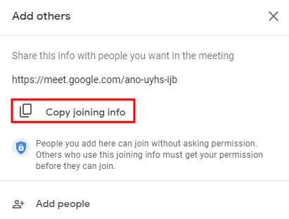 Copy Joining Info