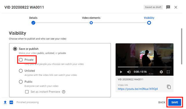 YouTube Video Visibility