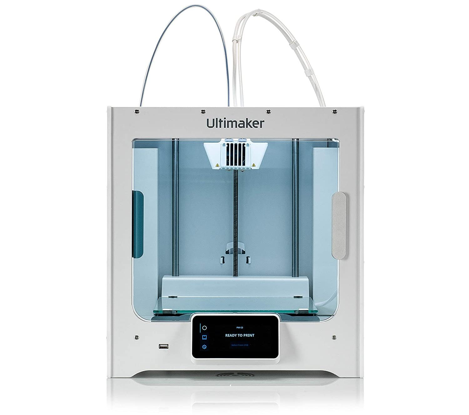 ultimaker s3 3d printer isolated on white background