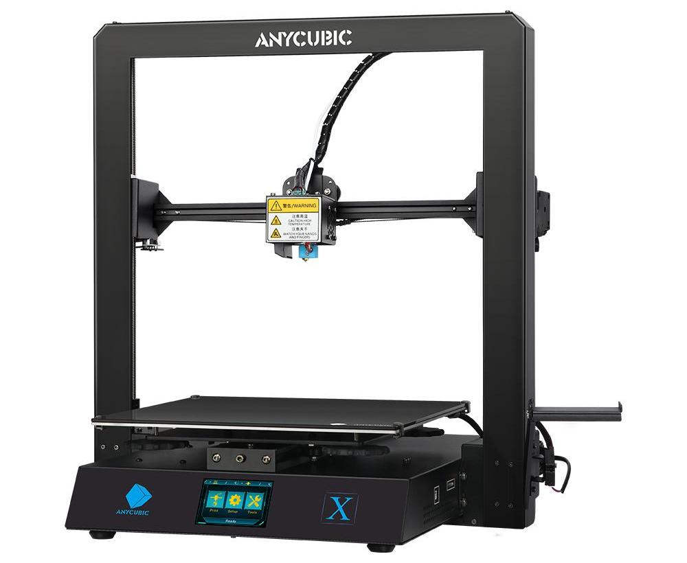 anycubic mega x 3d printer isolated on white background