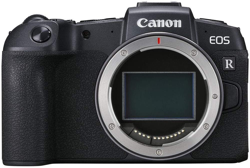 canon eos rp dslr camera isolated on white background