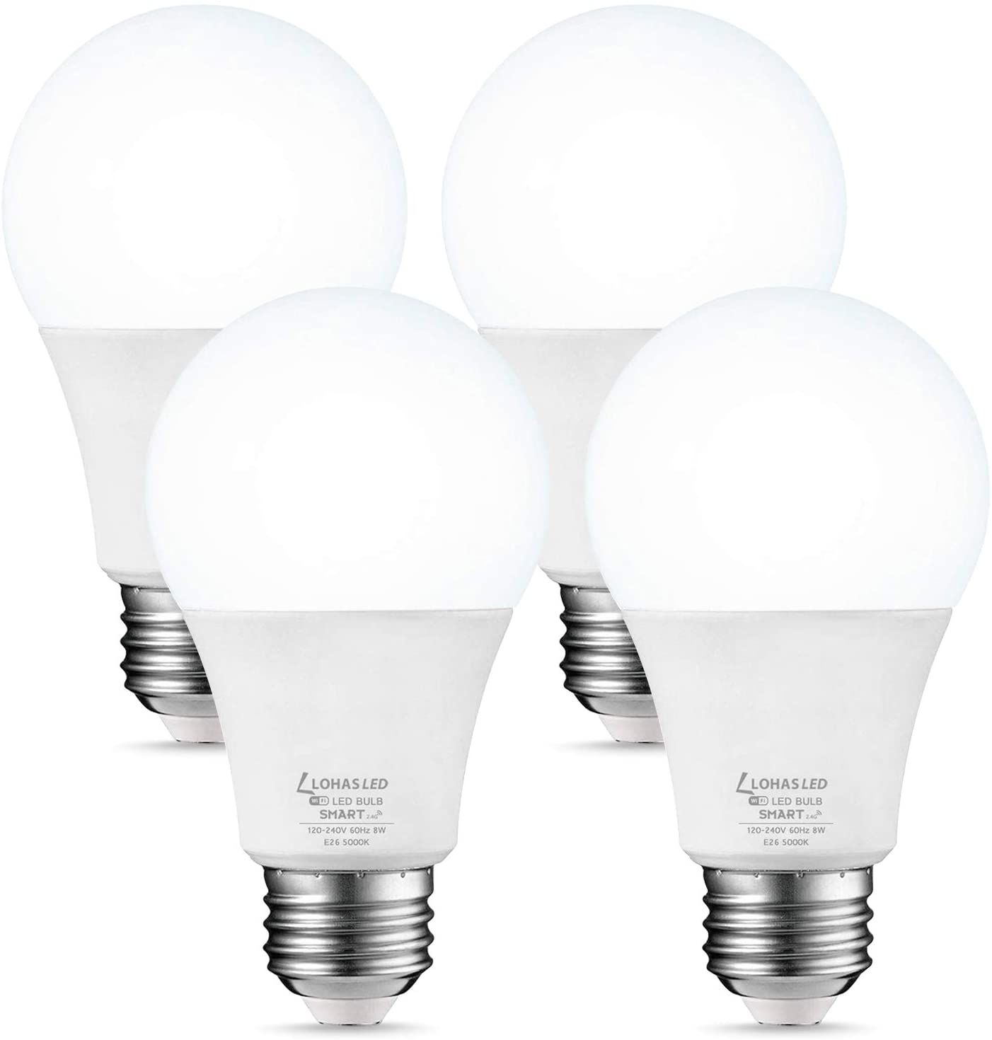 lohas dimmable smart light bulb isolated on white background