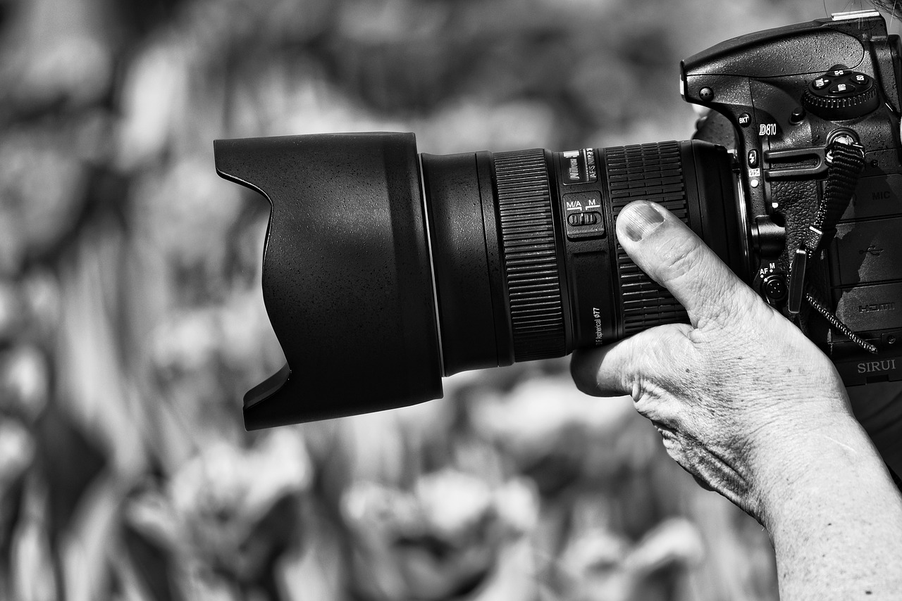 shooting with dslr camera
