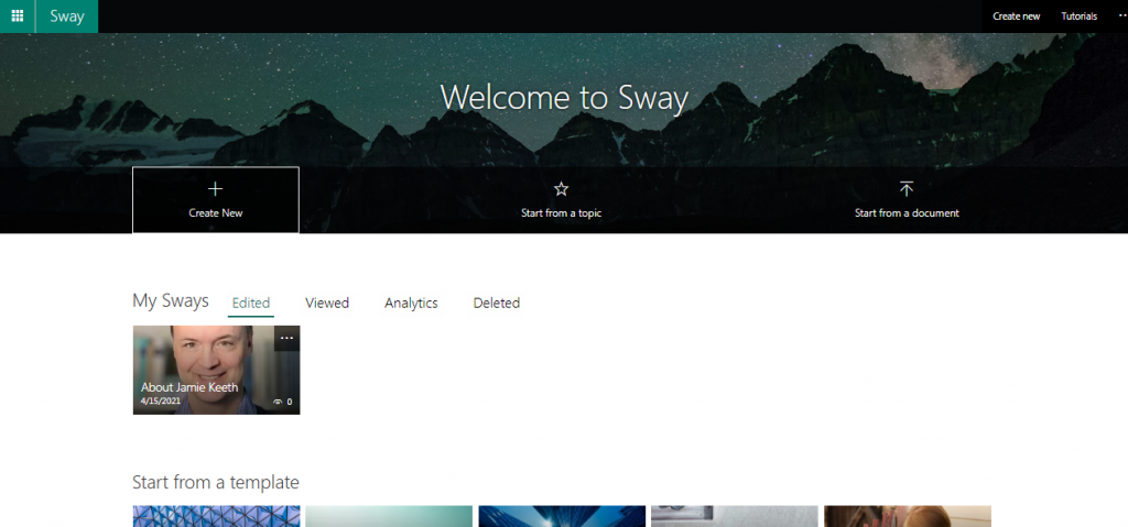 New Design with Sway