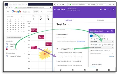 booking calendar add on for google forms