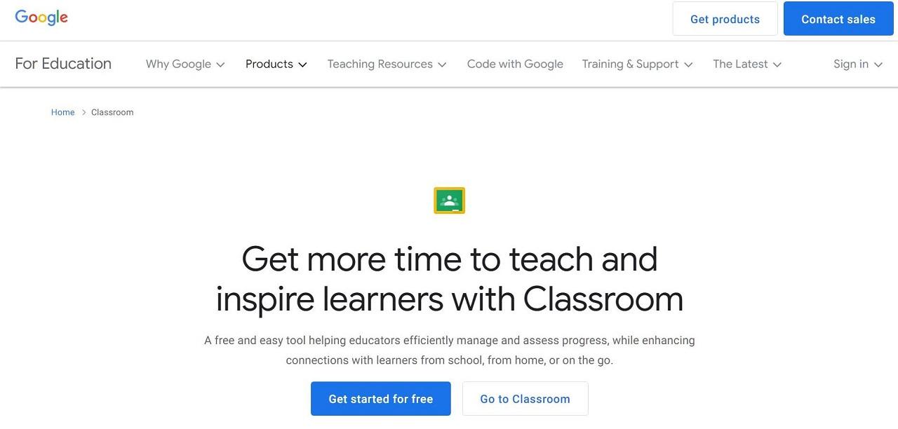 google classroom virtual training software