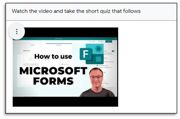 how to use microsoft forms video screenshot