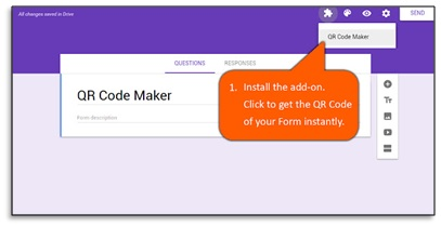 qr code maker for google forms add on