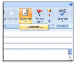 creating new signatures in microsoft outlook 2007 - 2010