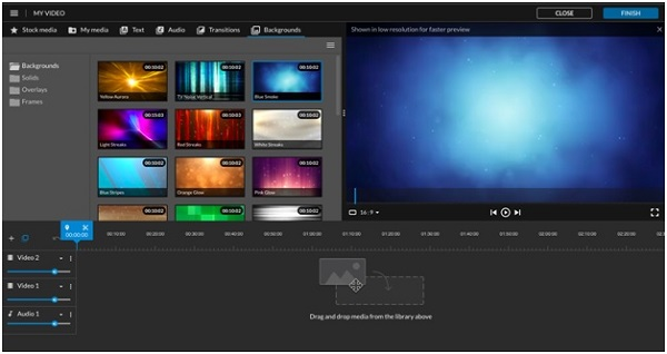 adding backgrounds in wevideo screenshot
