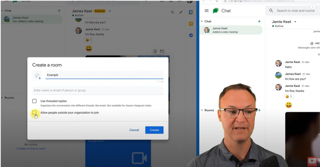 Create a Room in Google Chat