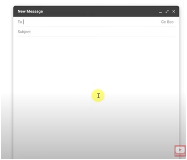 composing new message in gmail web