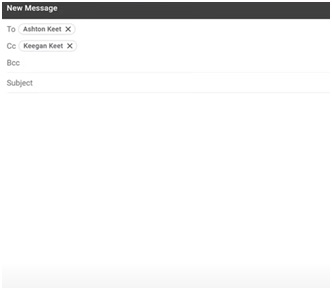 composing new message gmail recipients