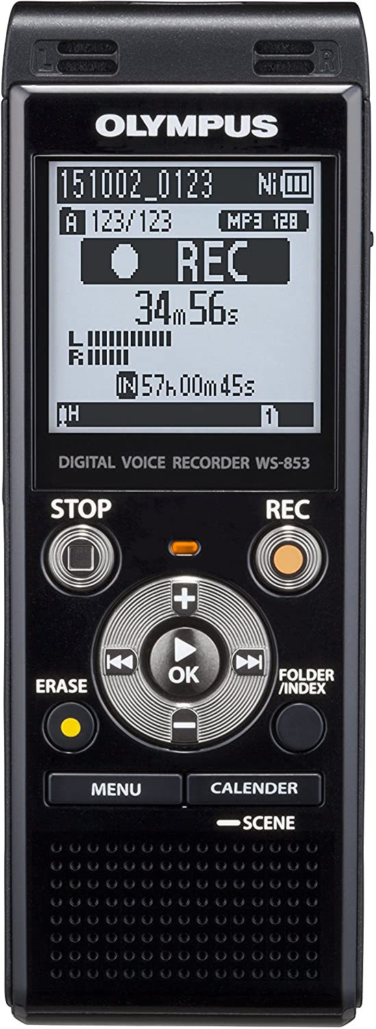 olympus voice recorder ws 853 isolated on white background